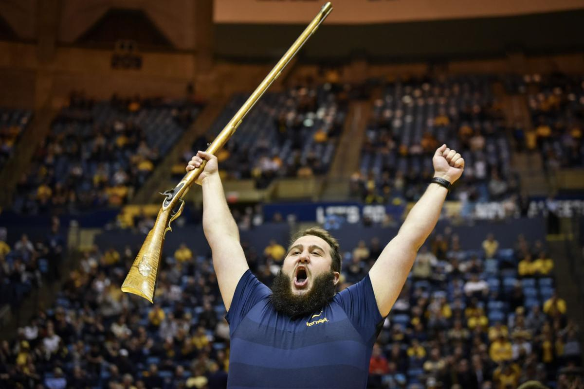 Timmy Eads celebrates being named the 2019-2020 Mountaineer.