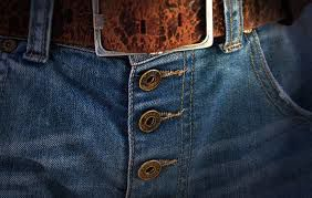 fly button jeans