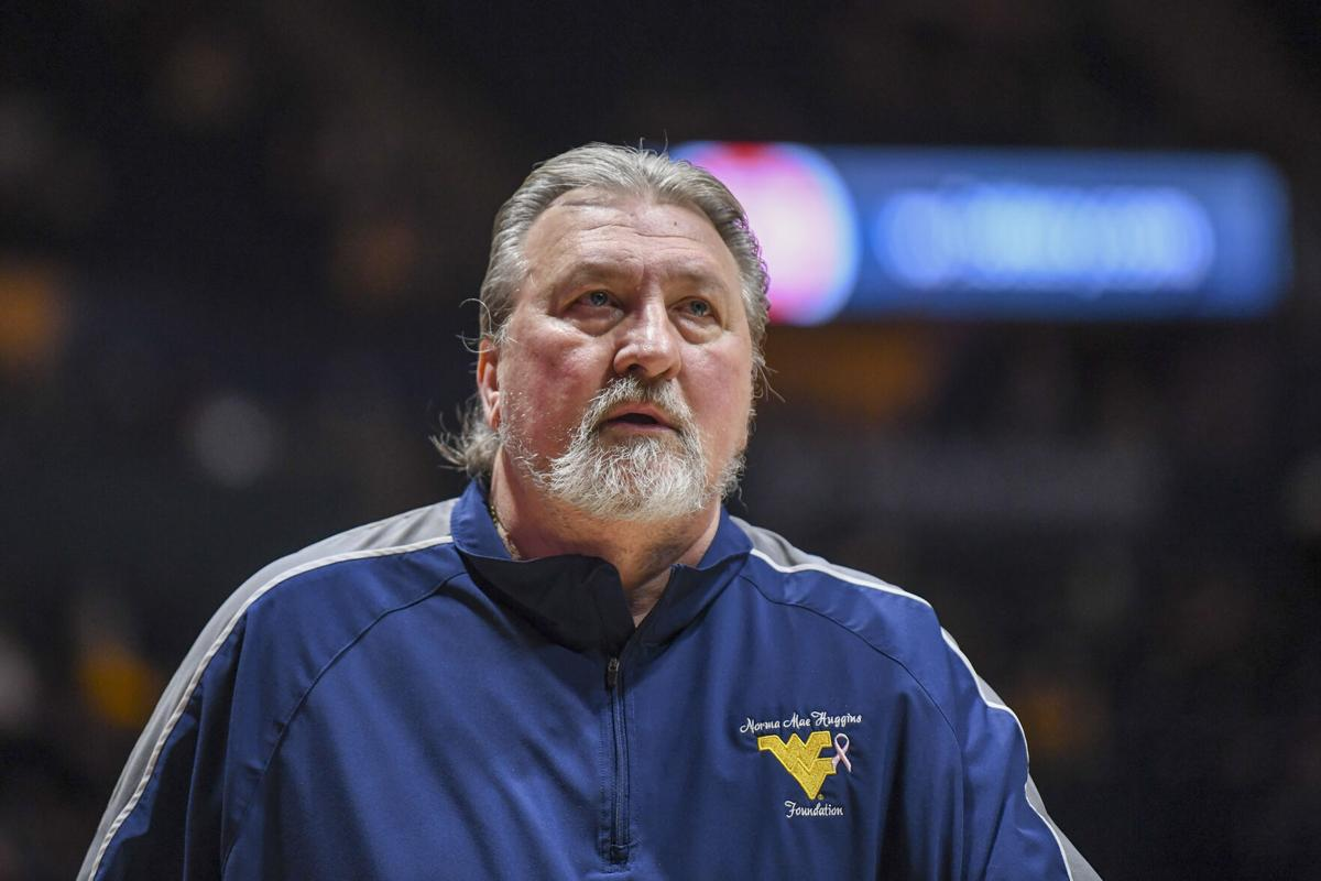 West Virginia head coach Bob Huggins walks off the floor following an 85-80 loss to Oklahoma State at the WVU Coliseum on March 6, 2021.