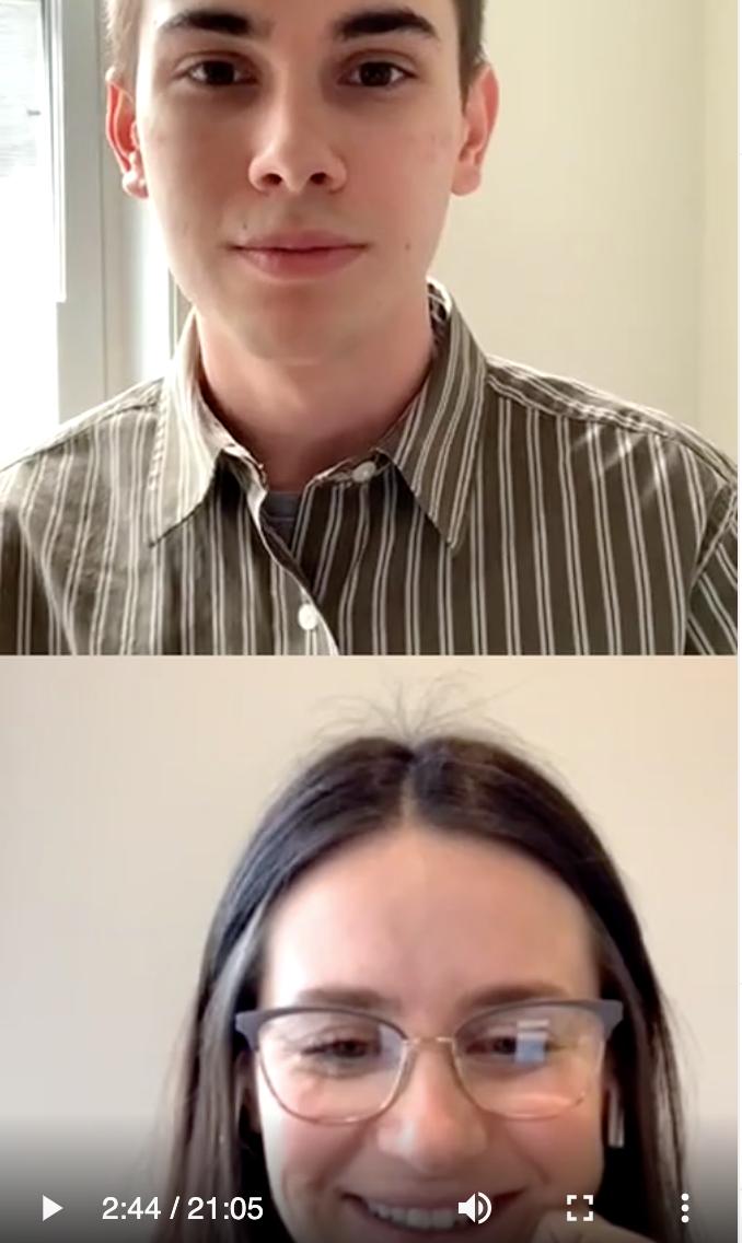 Trenton Straight speaks with Elaine Sheldon on Instagram Live.