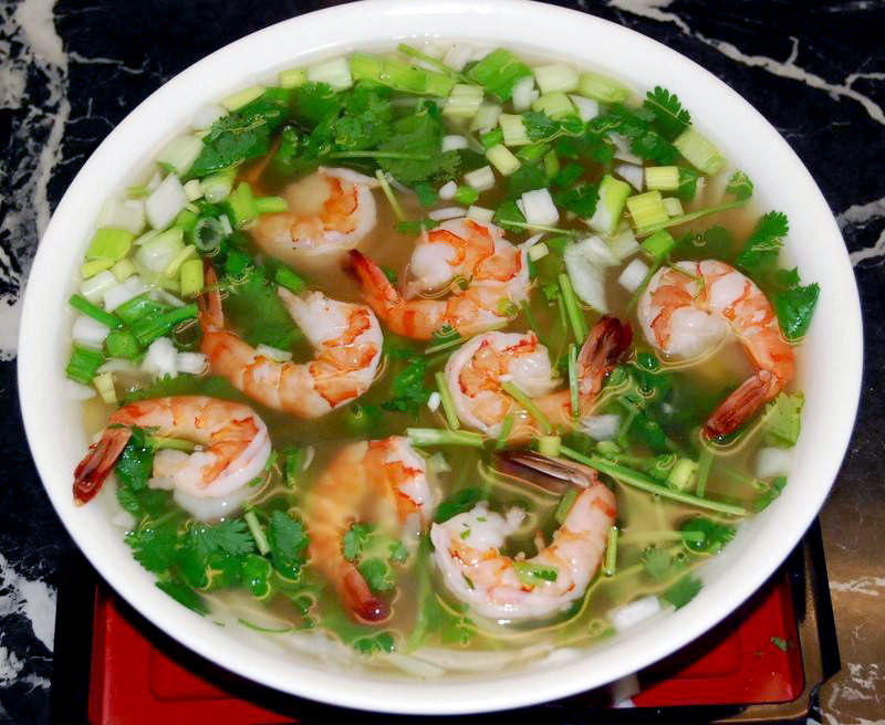 shrimp pho is one of the many versions of pho offered at saigon pho kitchen - Pho Kitchen
