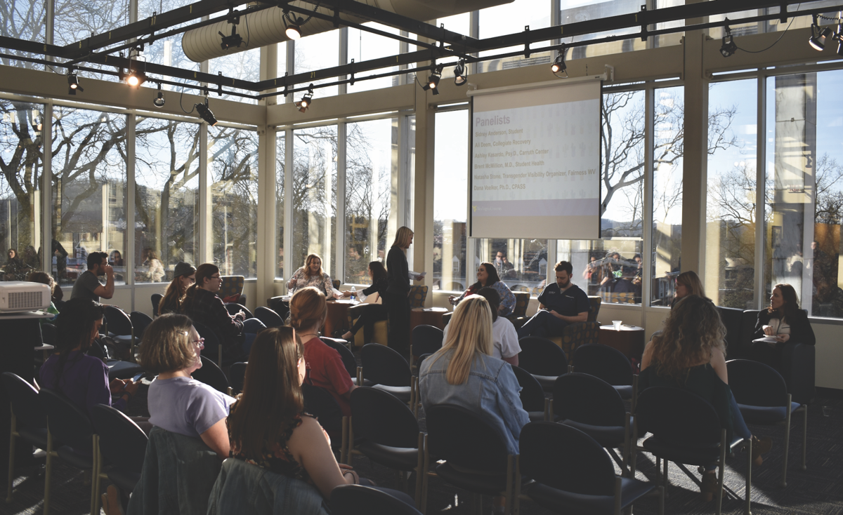 Six panelists spoke to a room of students about body positivity, the stigma around eating disorders and other common body image issues at the Mountainlair Tuesday.