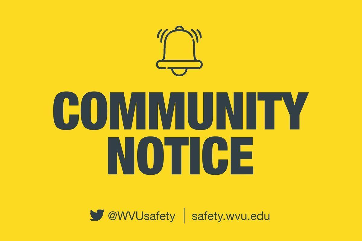 WVU community notice