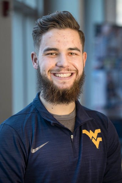 (Colson Glover poses for photographs in the Visitor's Center February 19th, 2020.  (WVU Photo/Brian Persinger) WVU Photo/Brian Persinger)