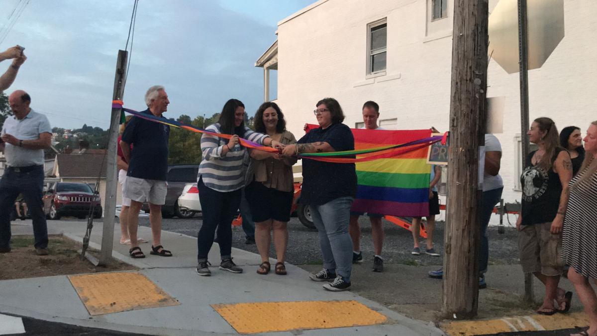the ribbon cutting ceremony of the crosswalk