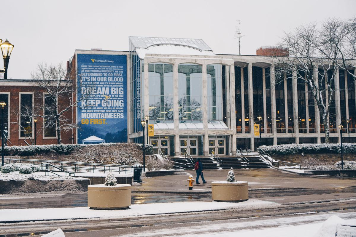 A student walks past the Mountainlair on Wednesday, Jan. 20.