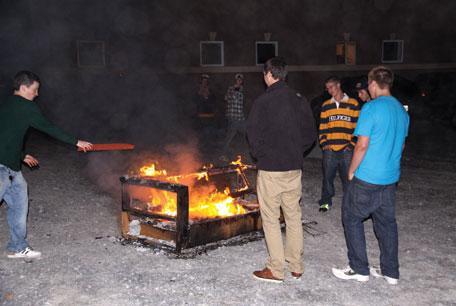 35 fires, five arrests after victory