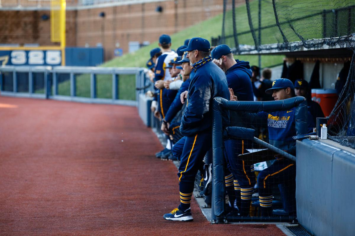 Head Coach Randy Mazey during West Virginia's game against the TCU Horned Frogs on April 30, 2021.
