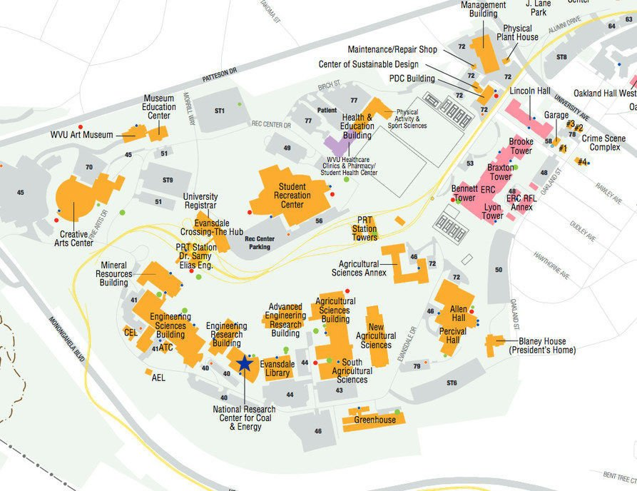 evansdale map