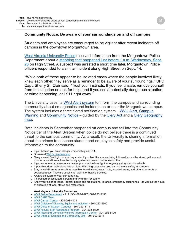 Community Notice Sept. 23