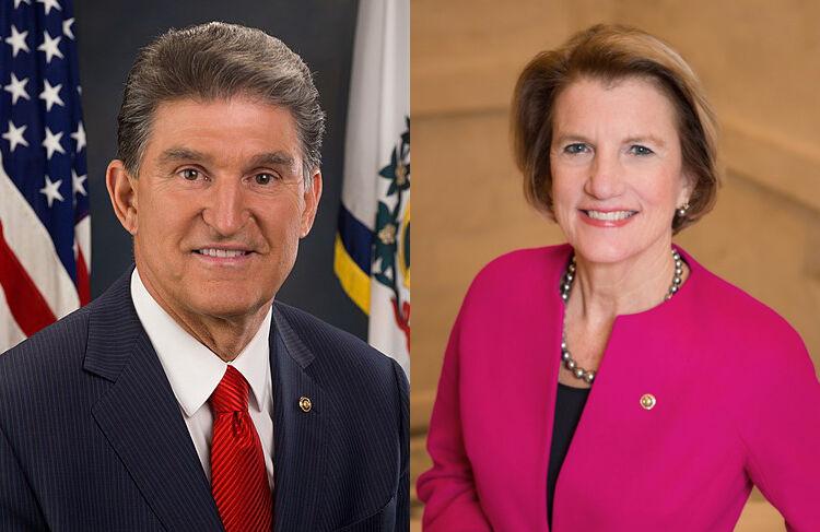 U.S. Senators Joe Manchin (D-WV) and Shelley Moore Capito (R-WV).