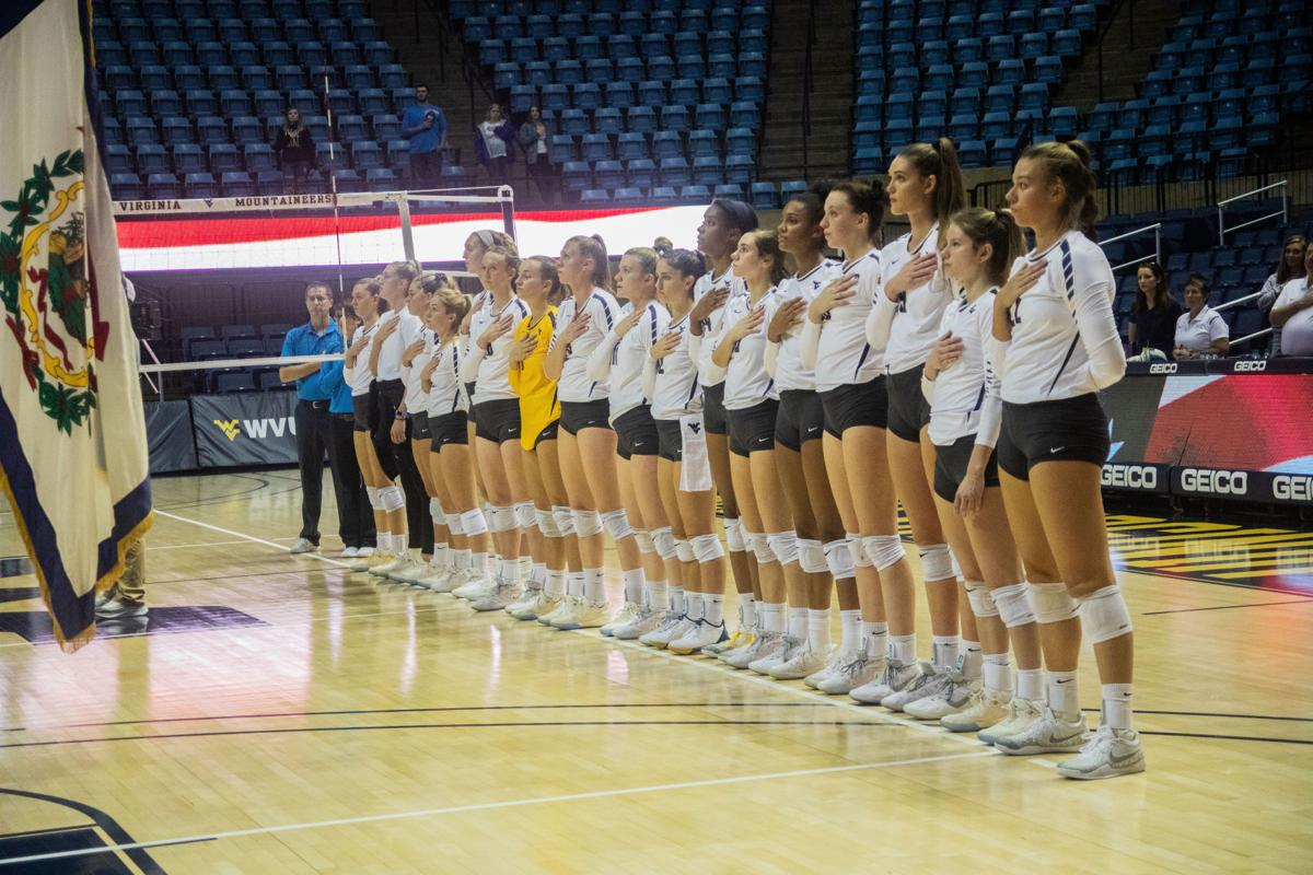 WVU Volleyball Ends Three-game Skid With Win Over Kansas