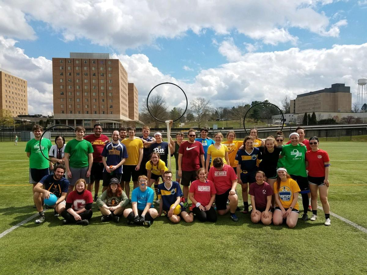 Quidditch players from different Universities that participated in the tournament.