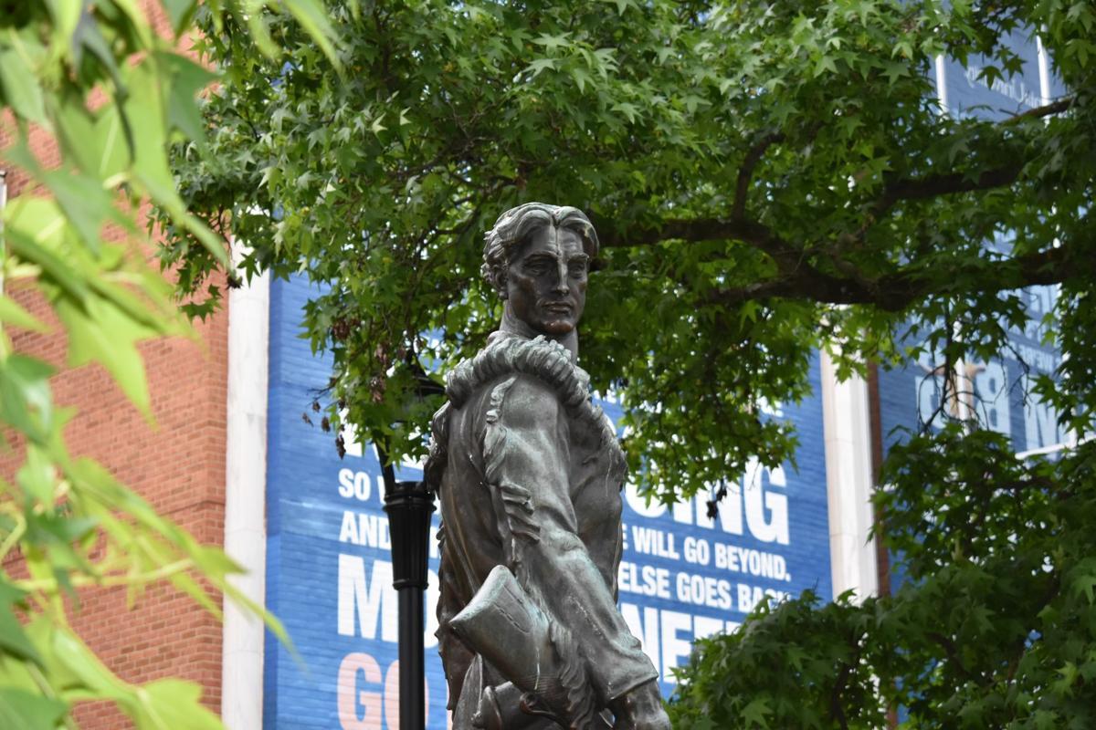 Mountaineer statue