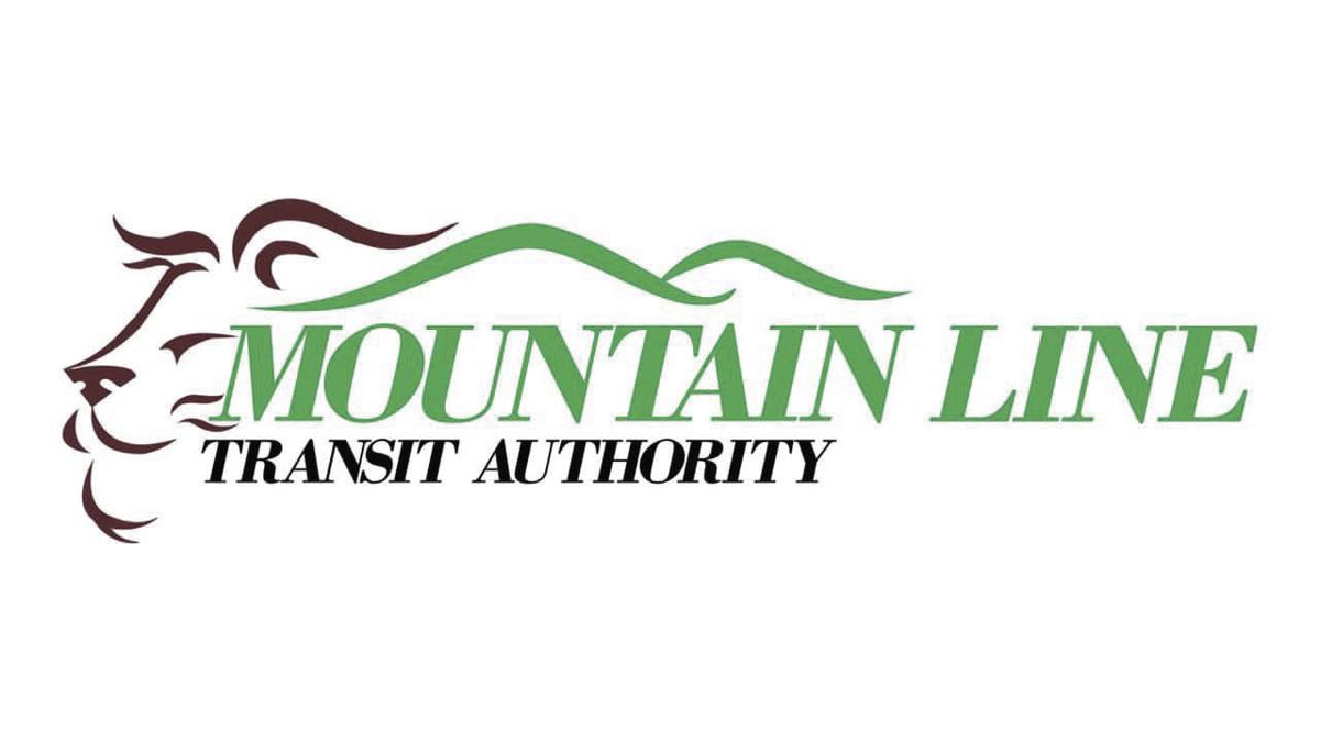 The Mountain Line logo, featuring green mountains and a brown lion.