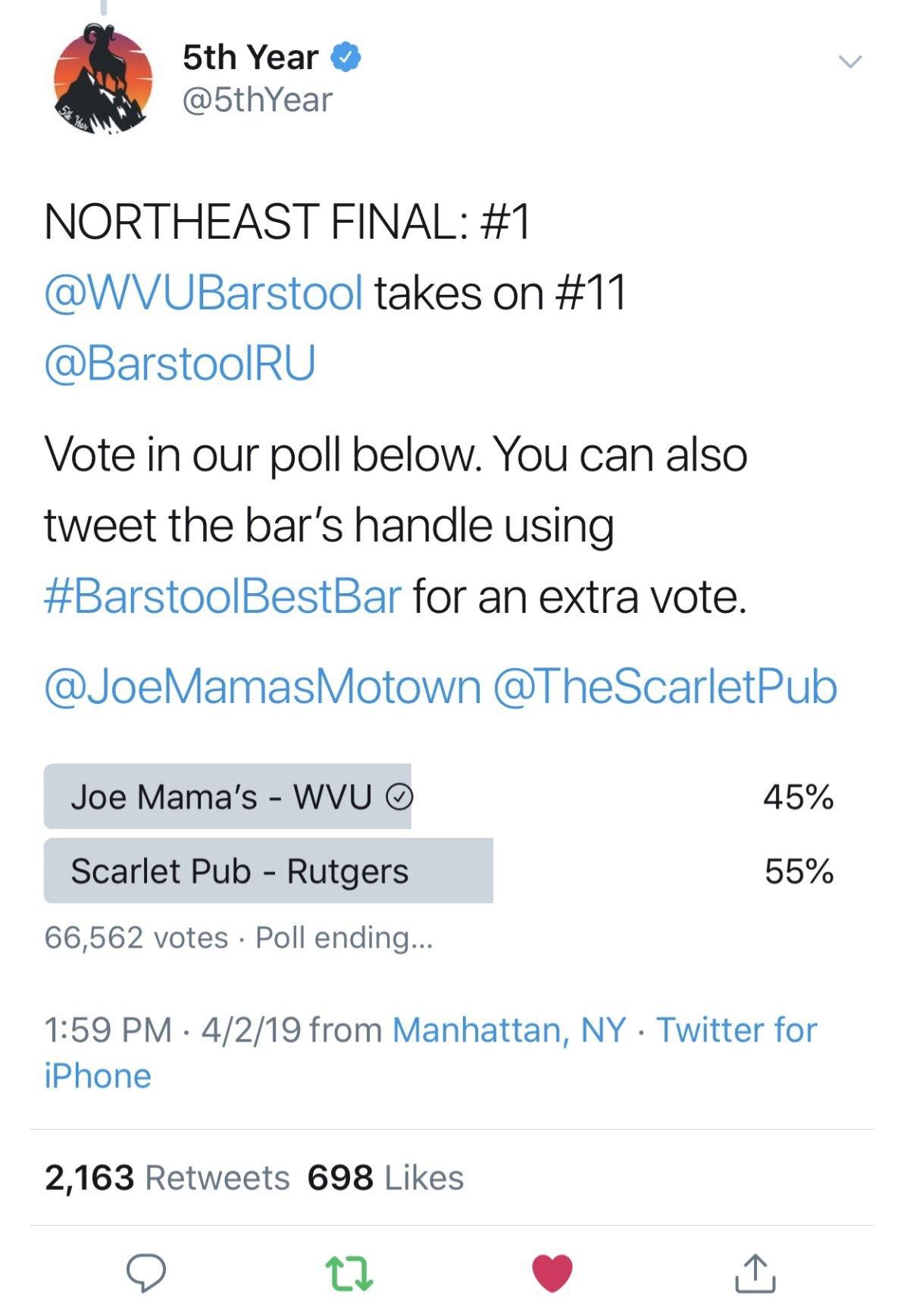 barstool best bar elite eight