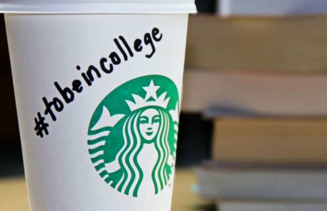 a Starbucks coffee cup.