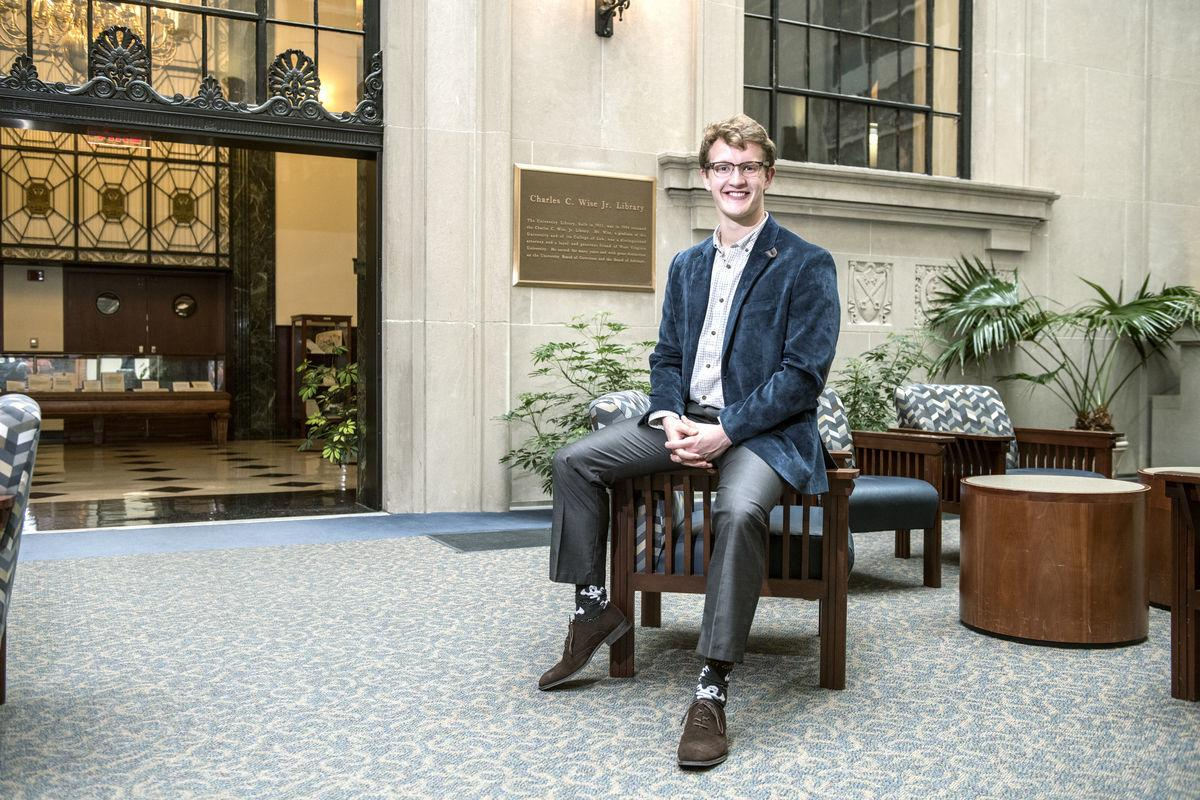 WVU Foundation Scholar David Laub has been awarded the Newman Civic Fellowship.