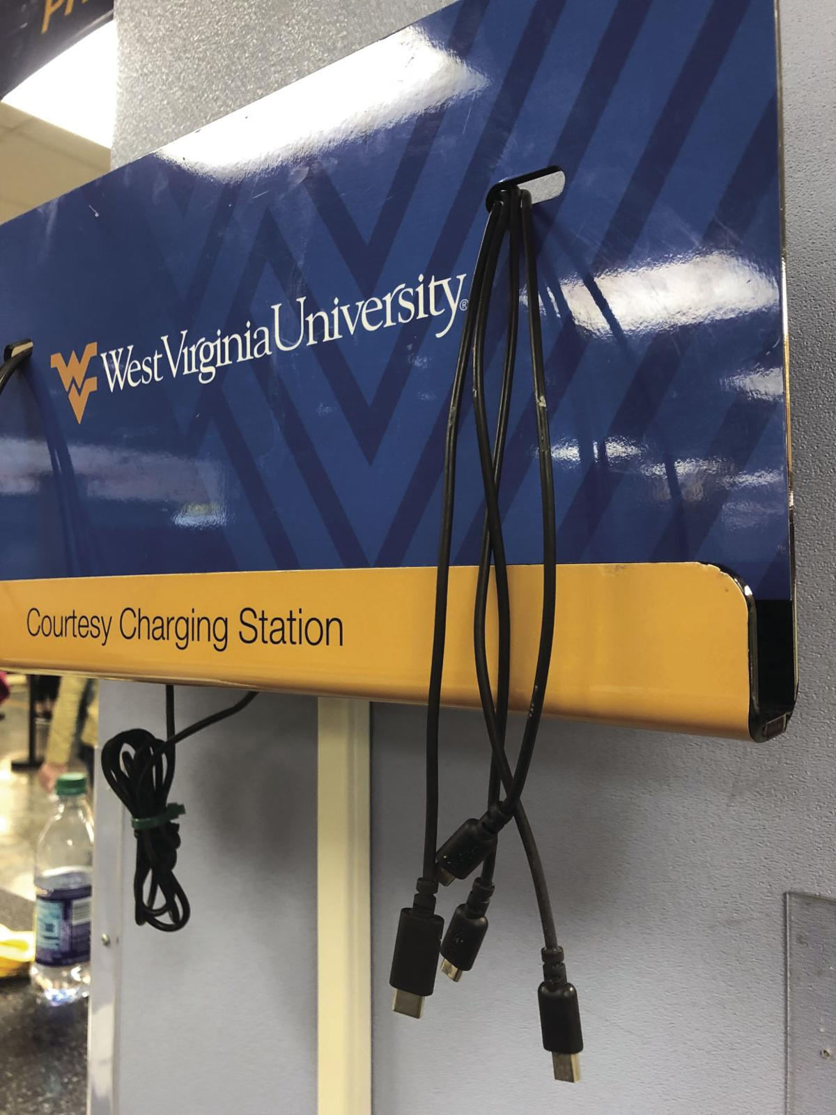 A charging station in the Mountainlair.