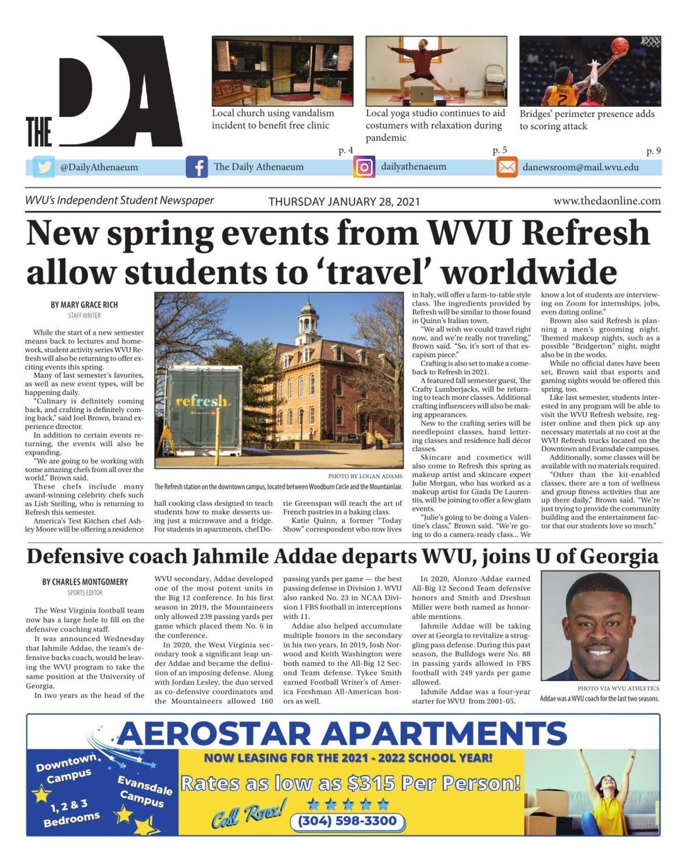 The DA's latest edition on January 28, 2021.