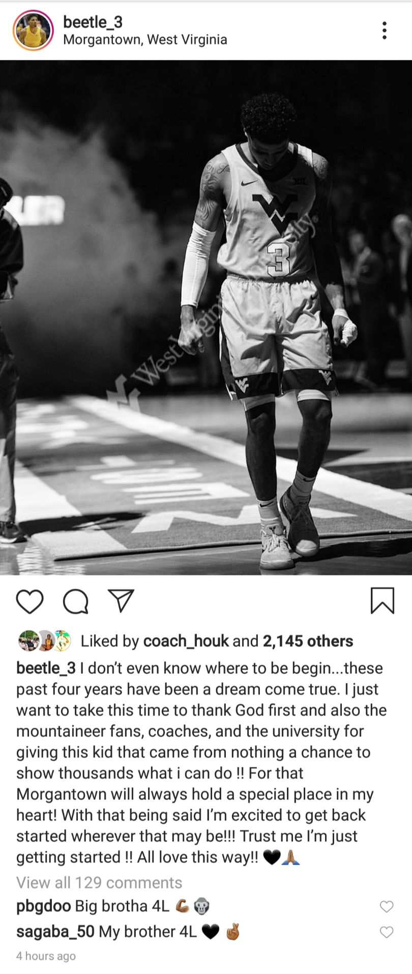 Beetle Bolden Instagram Post