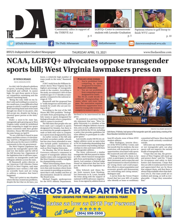 The DA's latest edition on April 15, 2021.