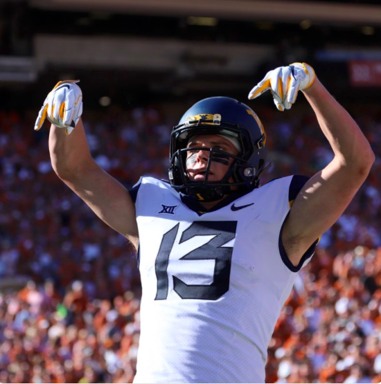 "David Sills V's ""Horns Down"" gesture earned WVU an unsportsmanlike conduct penalty."