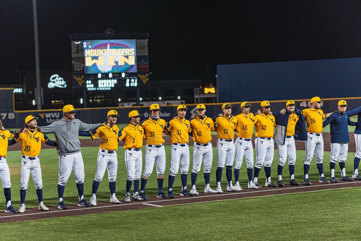 The West Virginia baseball team sings John Denver's