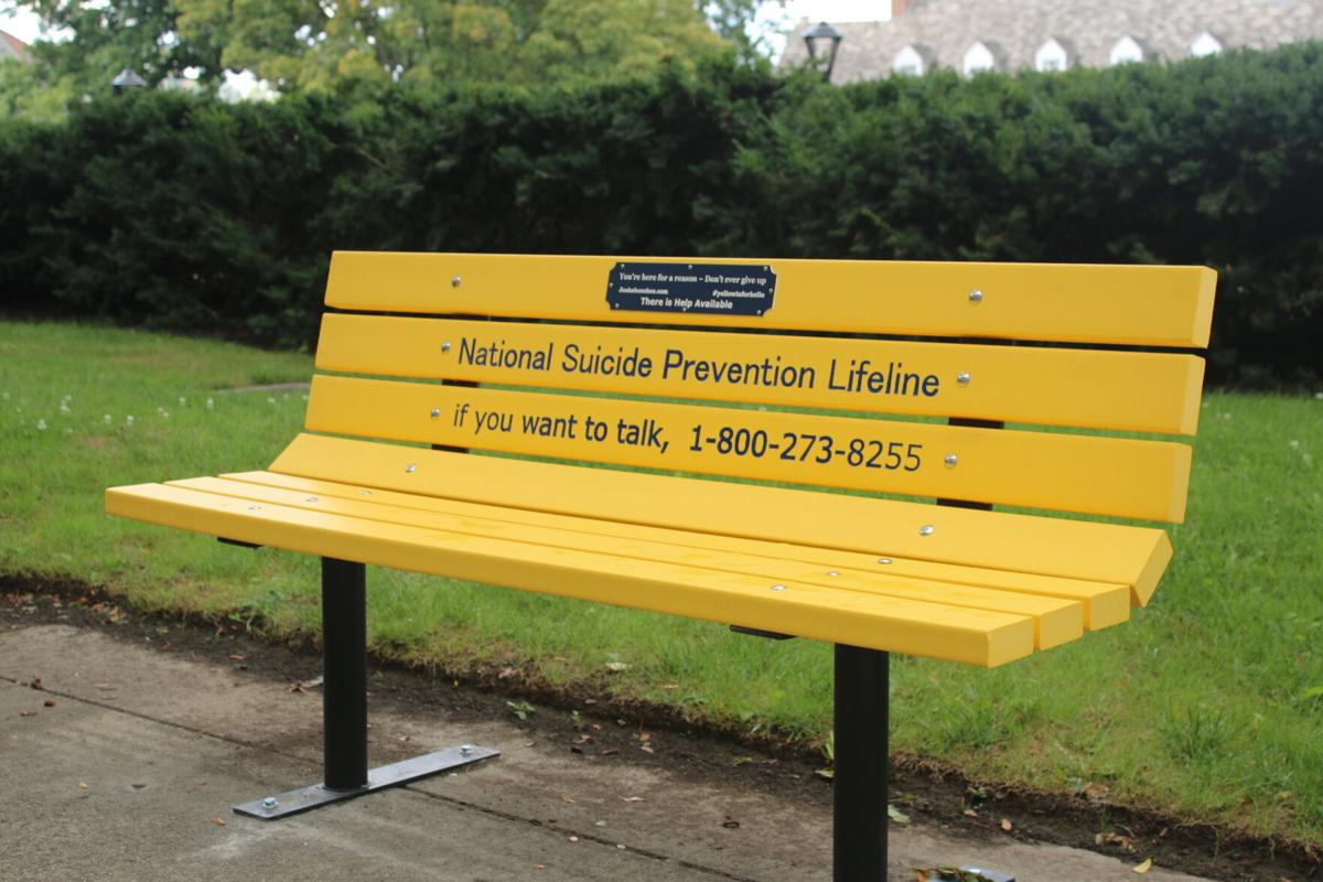 Sucide prevention bench