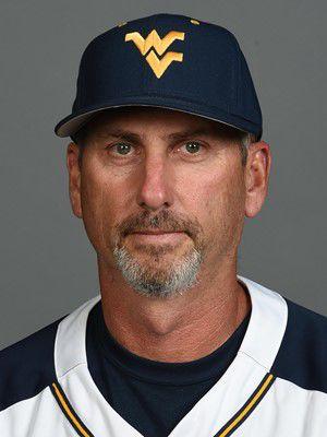 Portrait photo of WVU baseball coach Randy Mazey.