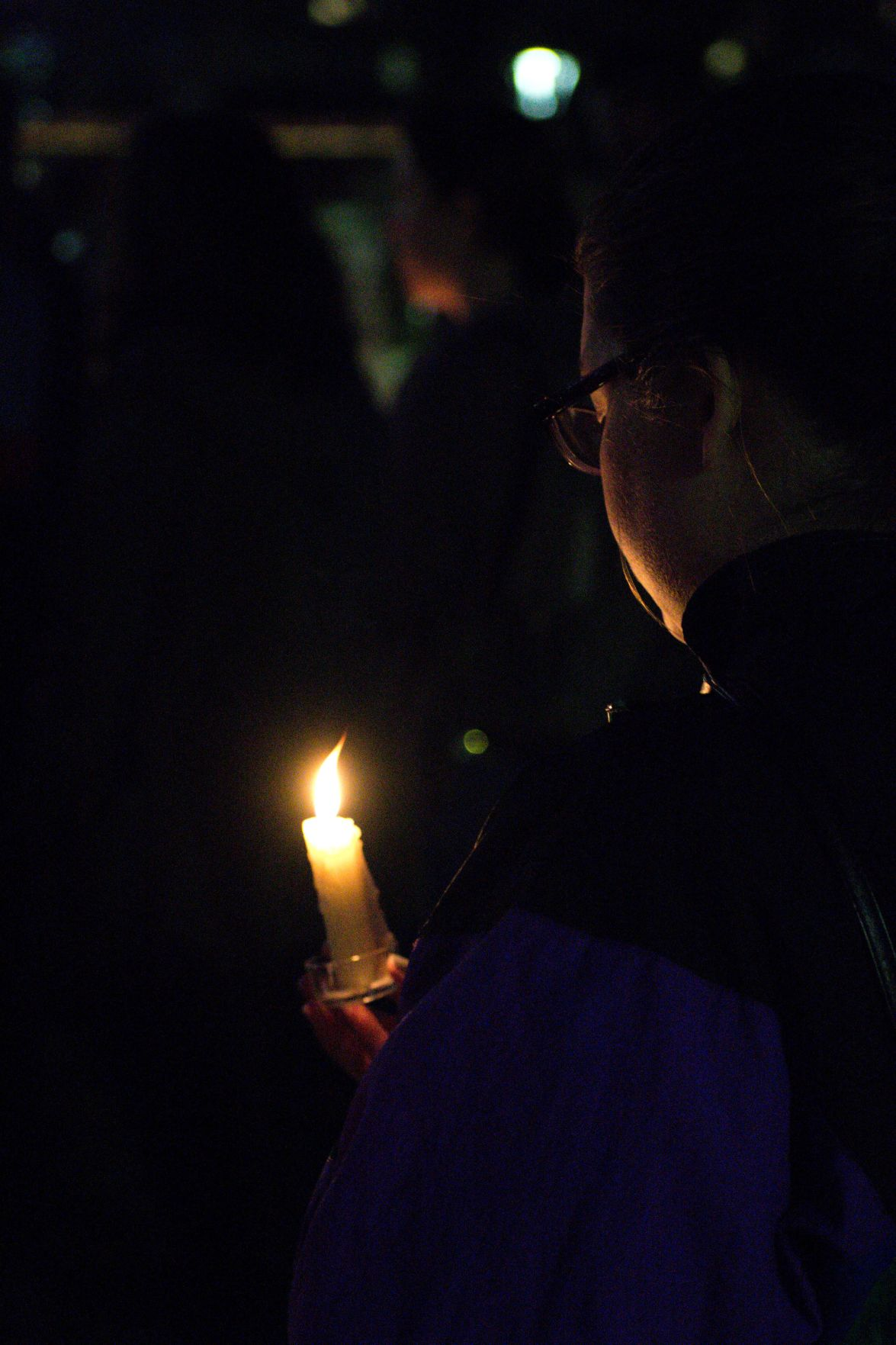More than 100 WVU students, faculty and community members attended a candlelight vigil honoring the victims of the Christchurch tragedy this evening.