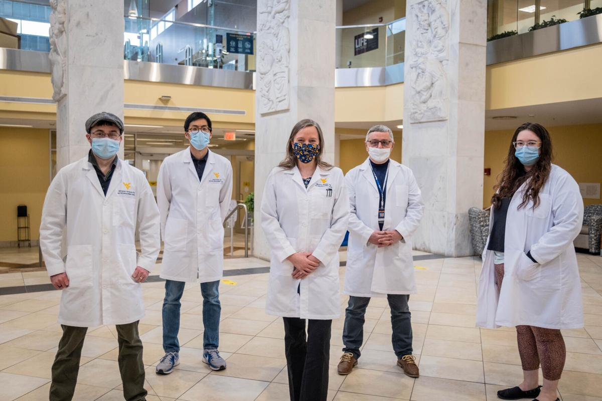 WVU School of Medicine team that will work on fighting antibiotic-resistant infections with the $1.4 million-grant.