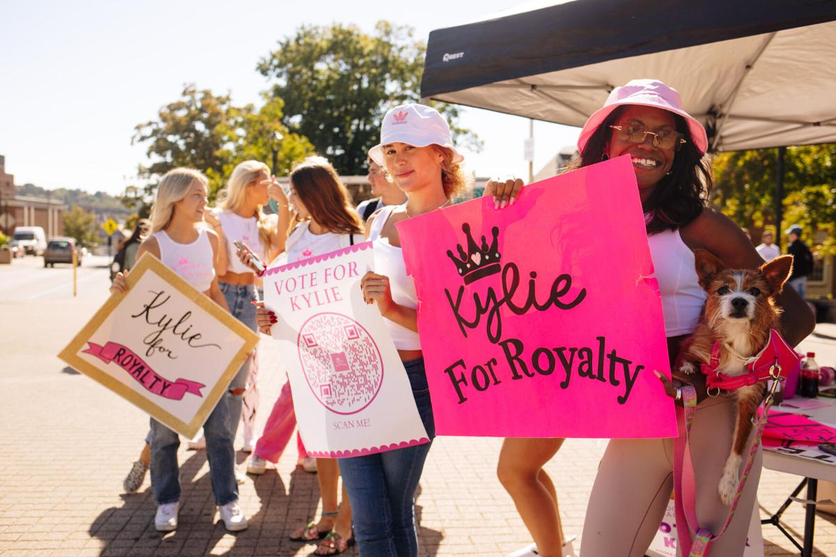 students campaign for homecoming