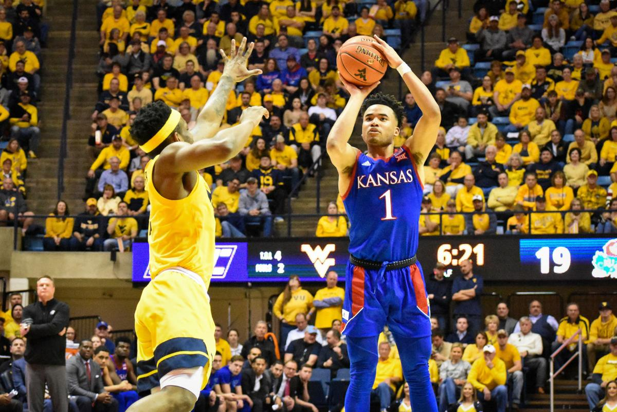 Kansas guard Devon Dotson helped to lead the Jayhawks in an upset over then-No. 1 Baylor on Saturday.