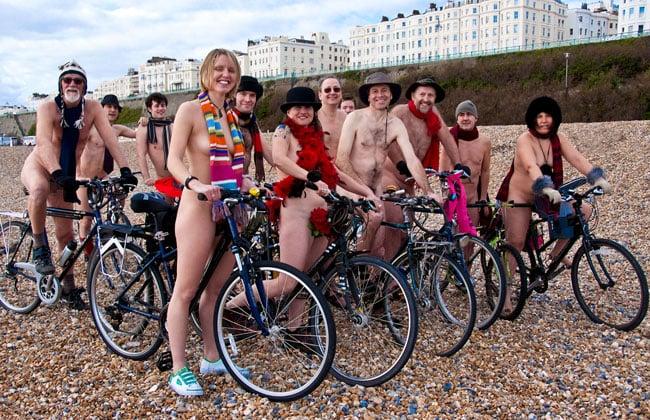 Naked bike rider in portland ore