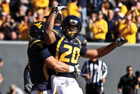 Running back Shawne Alston during his time for the West Virginia Mountaineers.