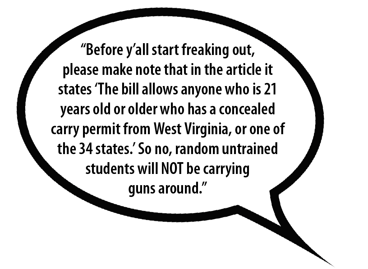 a tweet about campus carry