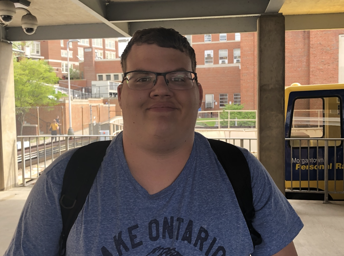 """""""Honestly, the 50 cents is a little much, but I can sort of understand it when parents come to visit, and of course the University wants money. I think the swiping the card is a good idea based on just random people getting on the PRT just whenever they want, and that sort of presents a safety risk."""""""