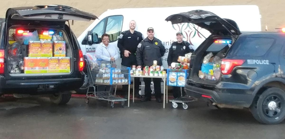 Sugarcreek police food drive nets 2 cruisers worth of items