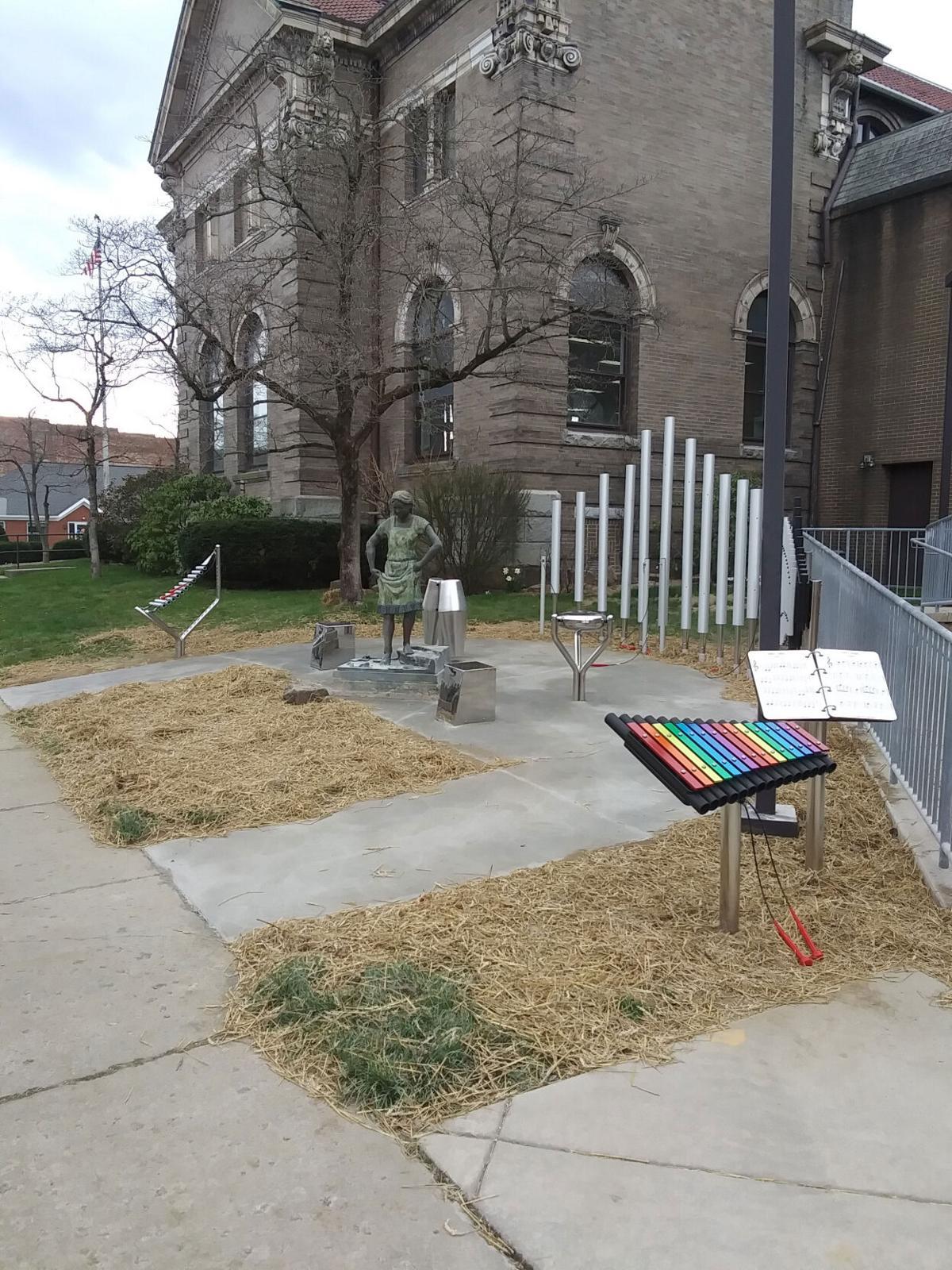 Music garden outside library expected to harvest interest