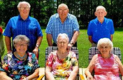 178 years of marriage among 3 couples