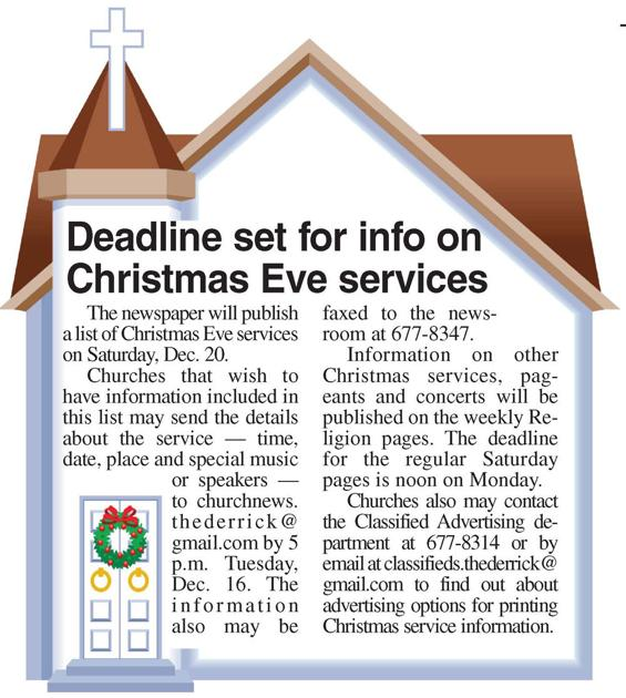 Christmas Eve Services 2020 Clarion Church Page Deadline set for info on Christmas Eve services | Features
