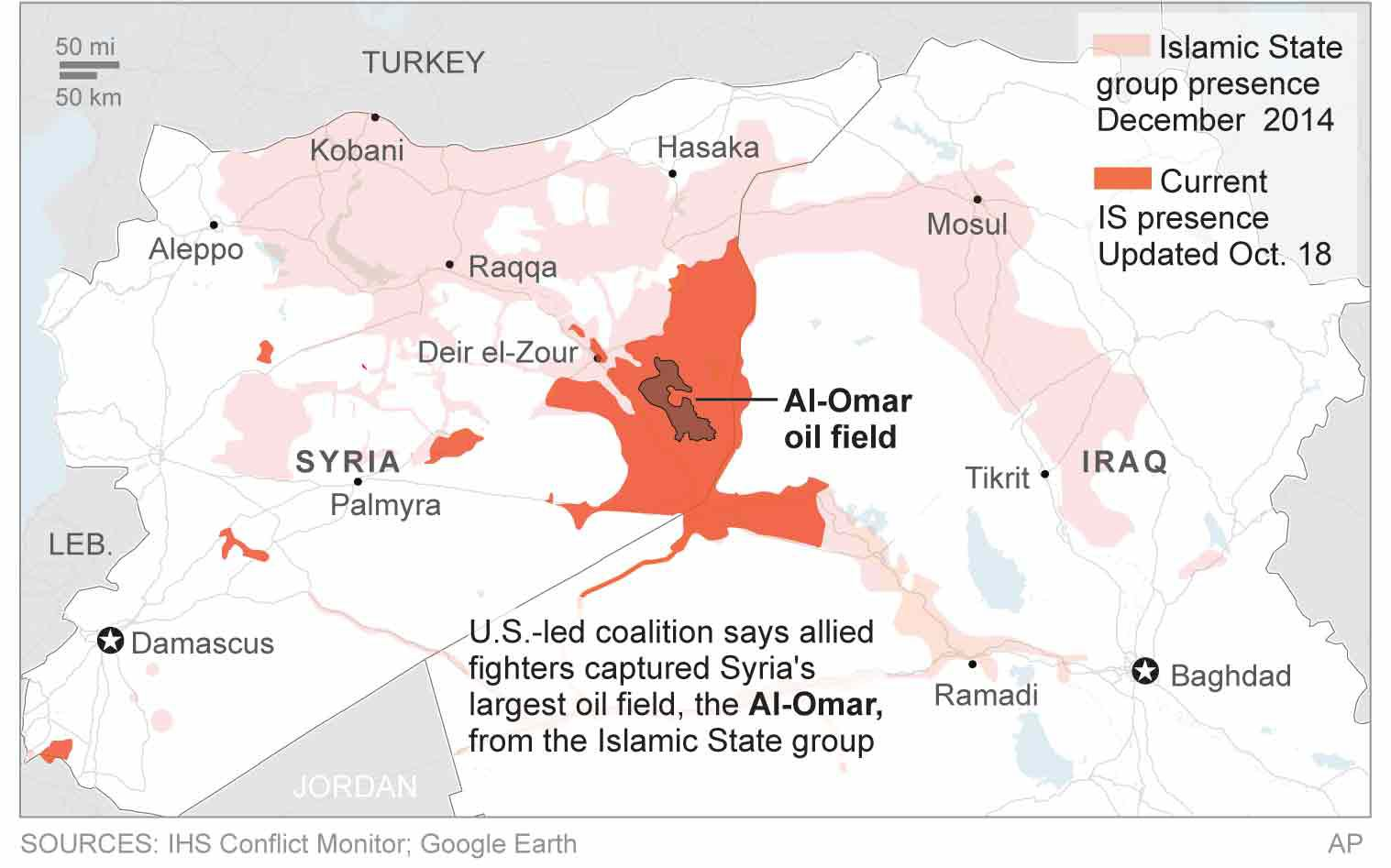 USbacked forces take Syrias largest oil field from IS Front