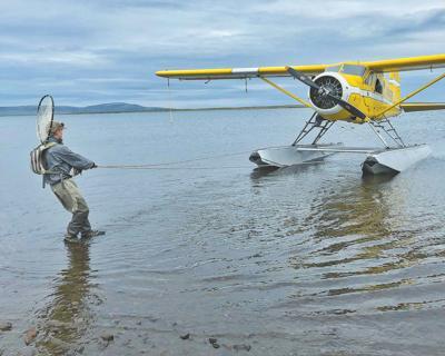 Trout fishing on Kukaklek Lake