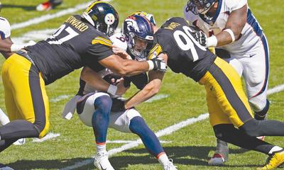 Steelers have recorded a sack in 63 straight games