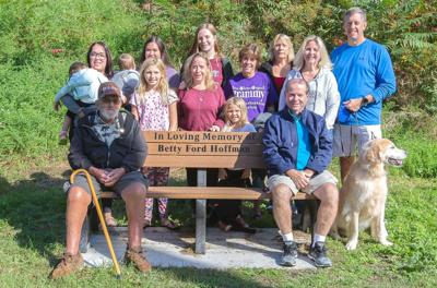 Bench donated in woman's memory