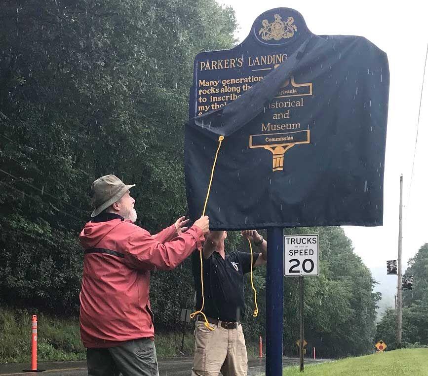 Parker's Landing marker unveiled