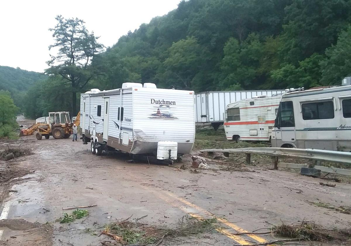 Properties along Deep Hollow Road hit hard; shelter set up by Red Cross