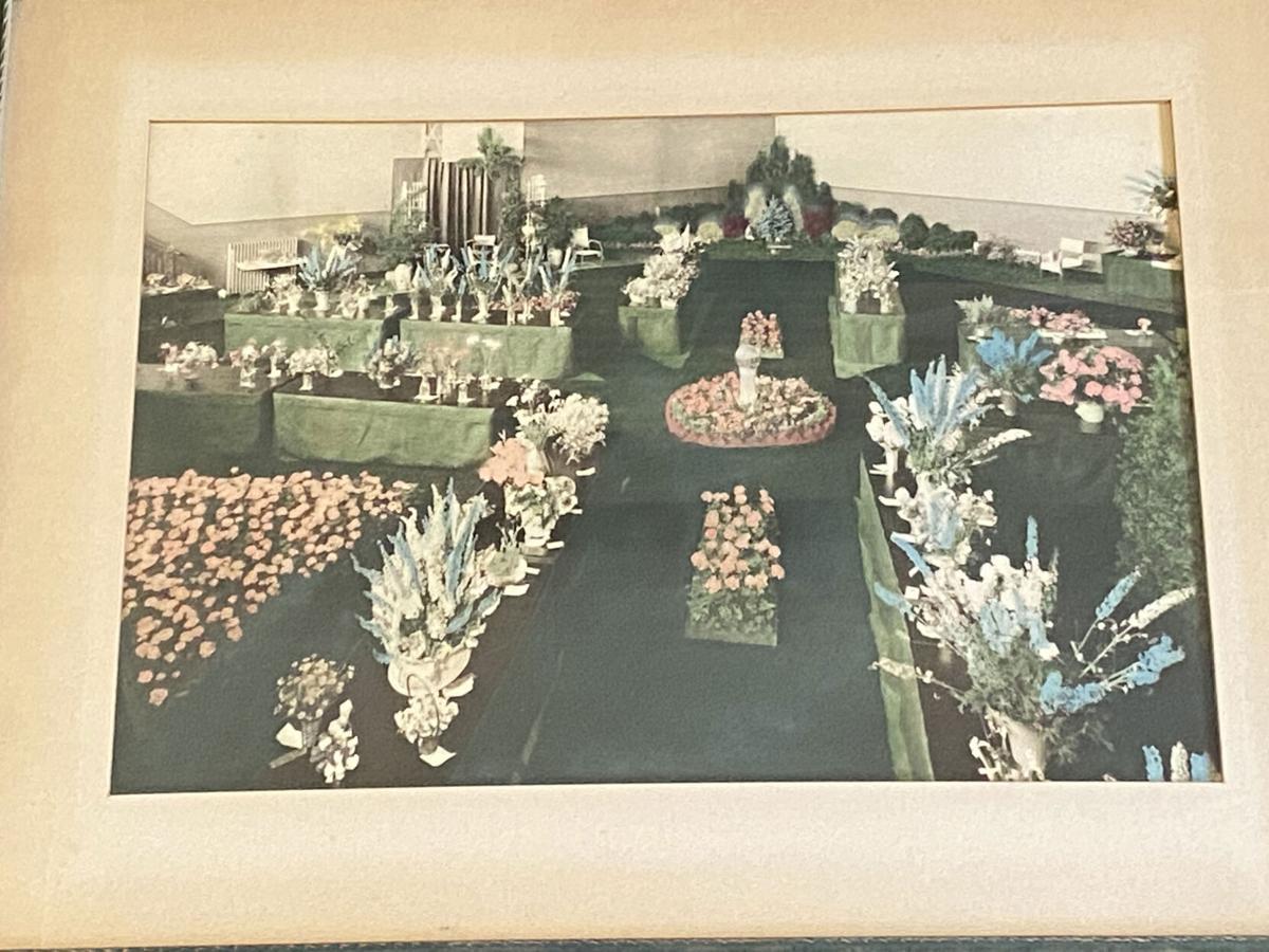 1934 flower display in Oil City