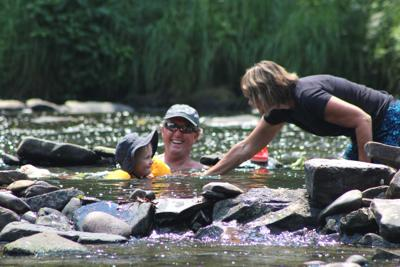 Cooling off in Oil Creek